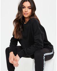 Missguided Black Basic Oversized Sweatshirt