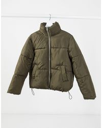 New Look - Свободное Пальто-пуховик Хаки -зеленый - Lyst