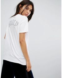 Juicy Couture - Hi Lo T-shirt With Back Logo - Lyst