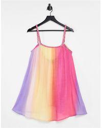 ASOS Plait Detail Beach Swing Dress - Pink