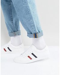Pull&Bear - Sneakers With Contrast Stripes In White - Lyst