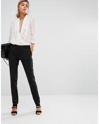 New Look Stretch Slim Leg Trousers - Black