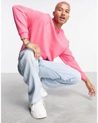 ASOS Co-ord Oversized Sweatshirt - Pink