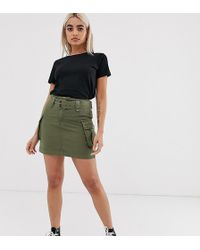 New Look Utility Skirt In Green