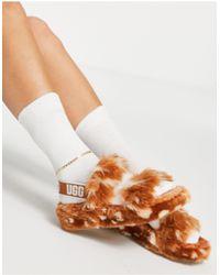 UGG Бежевые Слиперы Oh Yeah Spots-коричневый Цвет