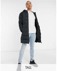 Threadbare Tall Longline Padded Jacket - Black