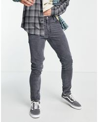 ASOS – enge jeans aus cord - Grau