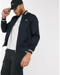 Fred Perry Tennis Bomber Jacket - Blue