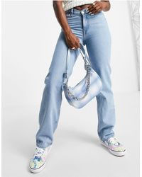Weekday Chain Recycled Shoulder Bag - Blue