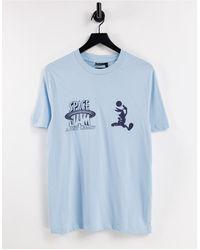 ASOS Space Jam: A New Legacy – Bunt bedrucktes T-Shirt - Blau