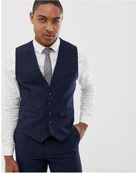 Burton - Wedding Skinny Fit Waistcoat - Lyst