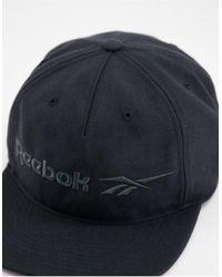 Reebok - Черная Кепка С Векторным Логотипом Classics-черный Цвет - Lyst