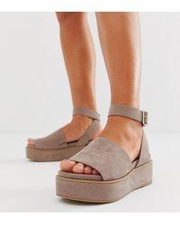 ASOS - Wide Fit Taylor Flatform Sandals - Lyst