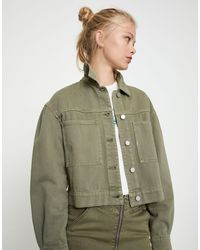 Pull&Bear Denim Jacket - Green