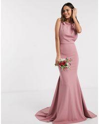 Missguided Розовое Платье С Глубоким Вырезом На Спине Bridesmaid-розовый Цвет