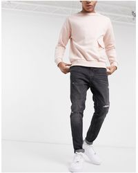 Pull&Bear Carrot Fit Jeans With Rips - Multicolor