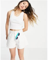 Kickers Shrunken Vest With Pastel Embroidery Logo - White
