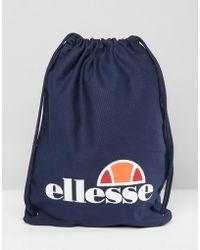 Ellesse - Drawstring Bag In Navy - Lyst