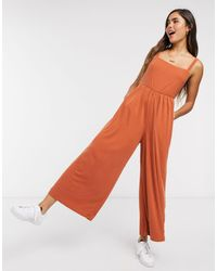 Rip Curl Wide Leg Jumpsuit - Brown