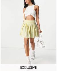 Missguided - Желтая Плиссированная Теннисная Юбка -желтый - Lyst