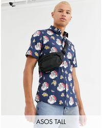 ASOS Tall Slim Fit Stretch Shirt - Blue
