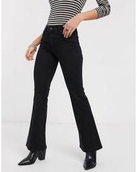 Bershka Jeans a zampa neri - Nero