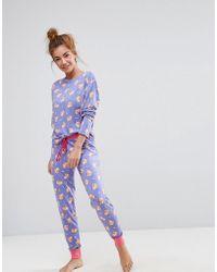 Chelsea Peers - Corgi Dog Long Pyjama Set - Lyst