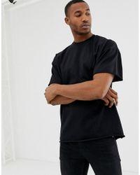 30f42fbaa07a ASOS Super Longline Long Sleeve T-shirt In Lightweight Rib Fabric ...
