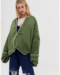 One Teaspoon - Oversized Quilt Jacket With Badges - Lyst