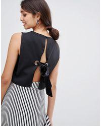 e6b06c4e4c634 Girls On Film - Crop Top With Tie Back Detail - Lyst