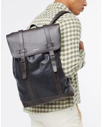 ASOS Leather Backpack - Black