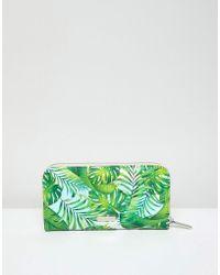 Skinnydip London - Palm Print Zip Top Purse - Lyst