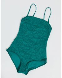 & Other Stories Square Neck Swimsuit - Green