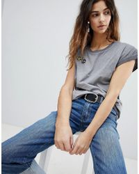 Soaked In Luxury - Bee Badge T-shirt - Lyst