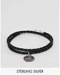 ASOS - Bracelet With Sterling Silver St Christopher Pendant - Lyst
