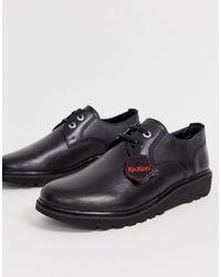 Kickers Мужские Кожаные Туфли-дерби Черного Цвета Kick C Lite-черный