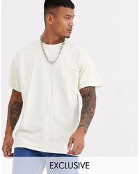 Reclaimed (vintage) Camiseta blanca extragrande con diseño teñido - Blanco
