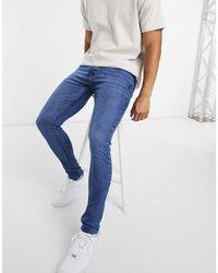 Criminal Damage Core Skinny Jeans - Natural