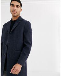 Burton Темно-синее Пальто Из Искусственной Шерсти - Синий