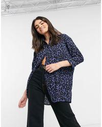 ASOS - Oversized Long-sleeved Shirt - Lyst
