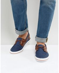 ASOS - Asos Boat Shoes In Navy - Lyst