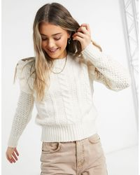 Pimkie Cable Knit Jumper - White