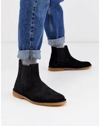 SELECTED Suède Chelsea Boots - Zwart