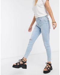 Bershka - Super Skinny 5 Pocket Jeans - Lyst