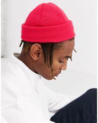 ASOS Petit bonnet style pêcheur - vif - Rose