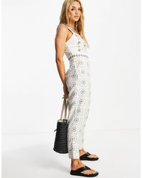 Never Fully Dressed Embroidered Jumpsuit - White