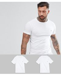 Replay - 2 Pack Logo T-shirts White - Lyst