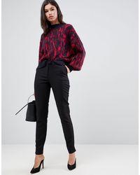 Y.A.S Pantalones capri pitillo de sastre negros ecco