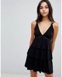 ASOS - Asos Strappy Mini Sundress With Tier And Ladder Trim - Lyst