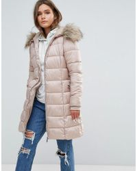 New Look - Padded Coat With Extreme Faux Fur Hood - Lyst